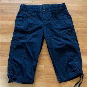 Gloria Vanderbilt Sz 10 Navy Capris Pants